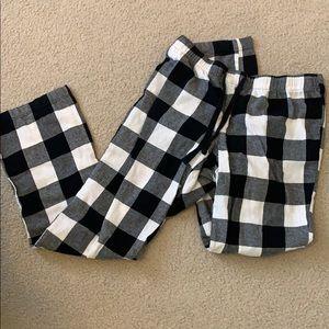 Black and white checkered pj pants